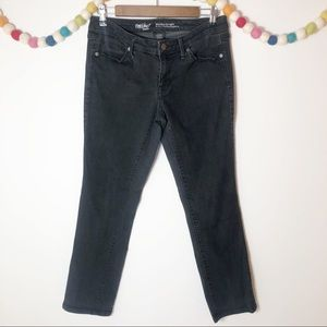 Mossimo Denim Black Midrise Straight Jeans - 8/29